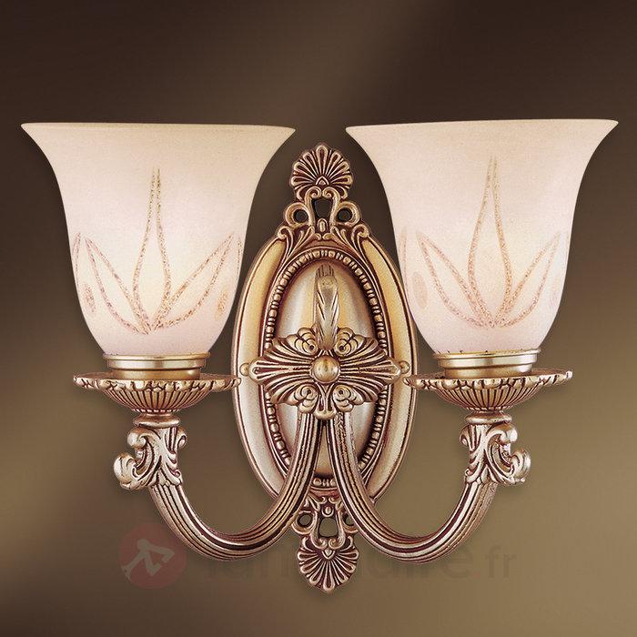 Applique à 2 lampes Estrella en verre - Appliques classiques, antiques