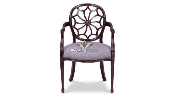Ahşap klasik kollu sandalye