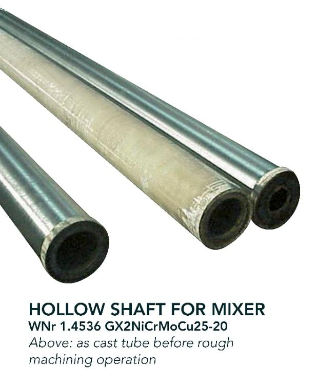 Hollow shaft - Chemical industry - mixer