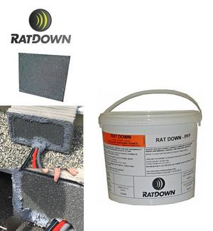 Barrières anti-rongeurs/anti-feu  - RATDOWN® PFP - Mastic et Panneaux