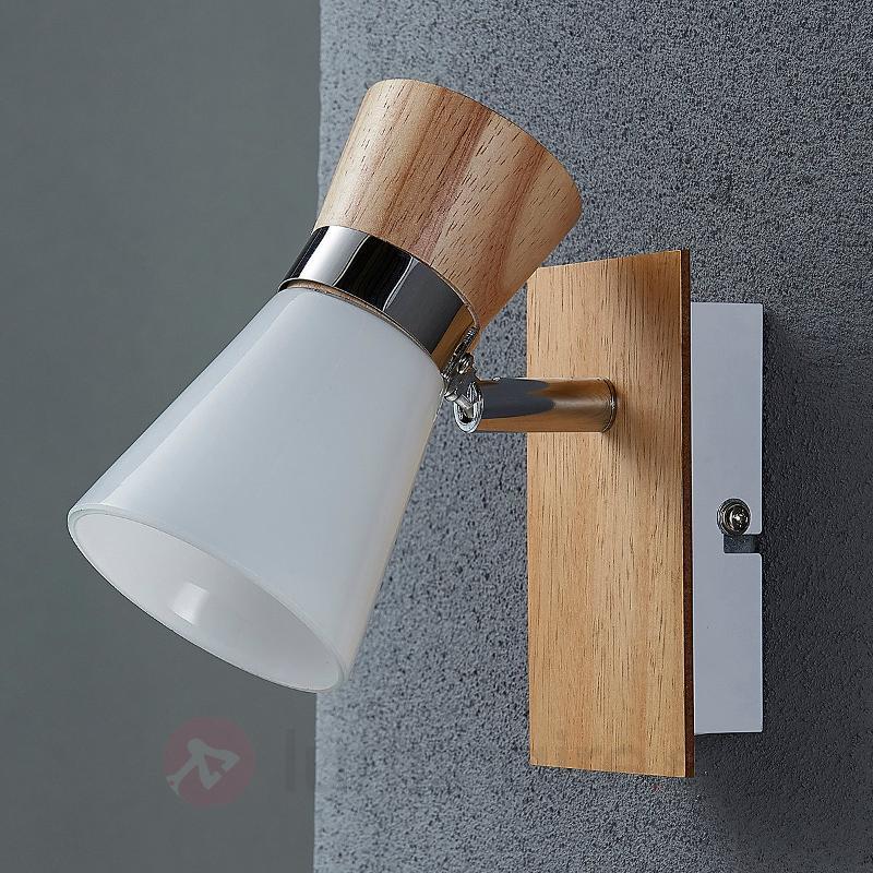 Applique en bois et verre Vivica - Appliques en bois