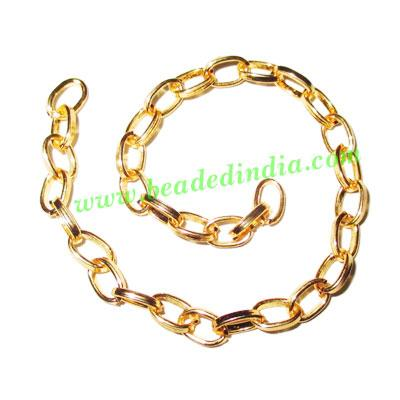 Gold Plated Metal Chain, size: 1x4mm, approx 45.5 meters in  - Gold Plated Metal Chain, size: 1x4mm, approx 45.5 meters in a Kg.