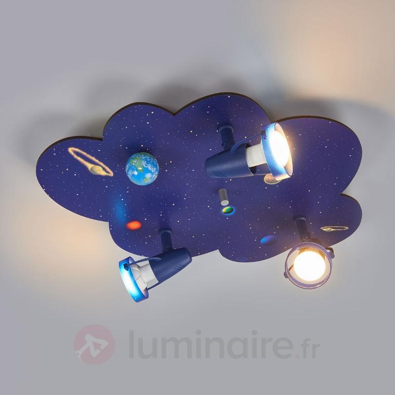 Plafonnier en forme de nuage WELTALL - Chambre d'enfant