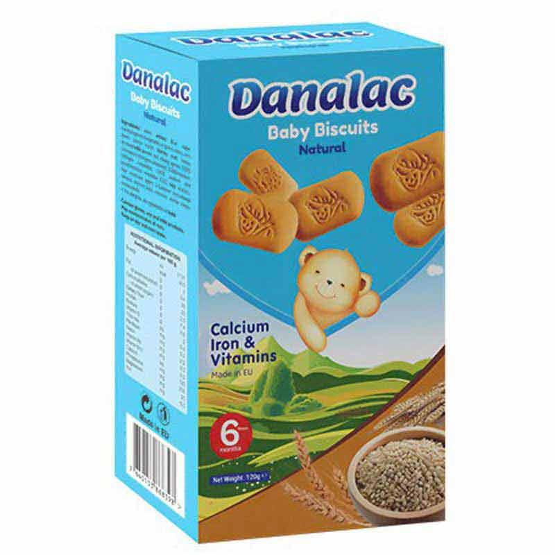DANALAC Baby Teething Biscuits - Finger Food Cookies for toddlers