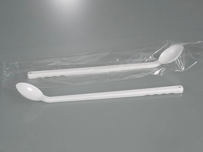Sampling spoon, long handle, disposable - Sampling equipment, laboratory equipment
