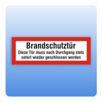 Feuerwehrzeichen Brandschutztür schließen - Größe: 297x105 mm 140x400 mm 297x105 mm