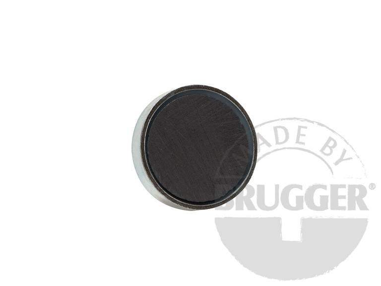 Flat pot magnets hard ferrite - with external thread