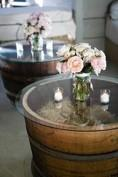 Half Barrel Coffee Table -