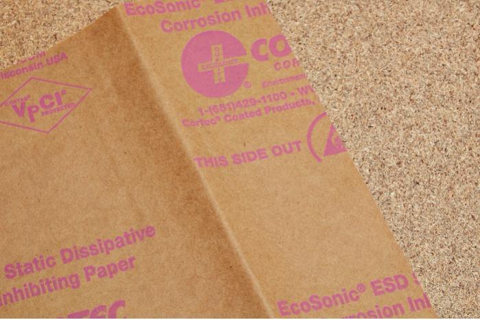 EcoSonic® ESD Antistatisch papier  - Aangedreven door Nano-VpCI® | Aangepaste maten beschikbaar