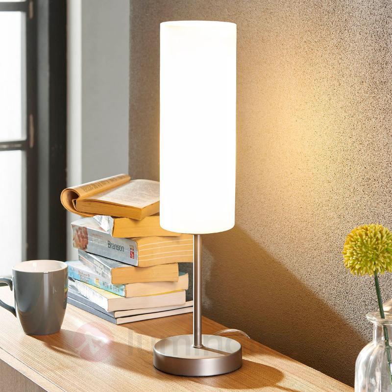 Lampe à poser Vinsta avec abat-jour en verre blanc - Lampes à poser pour rebord de fenêtre