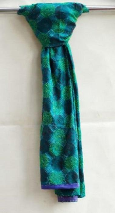 Indian Silk Kantha Patchwork stole -