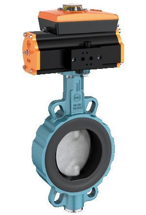 Válvula de cierre y control tipo Z 011-B - Válvula de mariposa de aplicación universal con revestimiento vulcanizado.