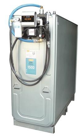 CUVE-STATION RAVITAILLEMENT GASOIL 1000 L / 230V UNI + - Cuves de stockage et stations de distribution de carburant