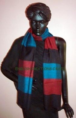 Silk Cashmere Checks & Stripes Scarves - Silk Cashmere Checks & Stripes Scarves
