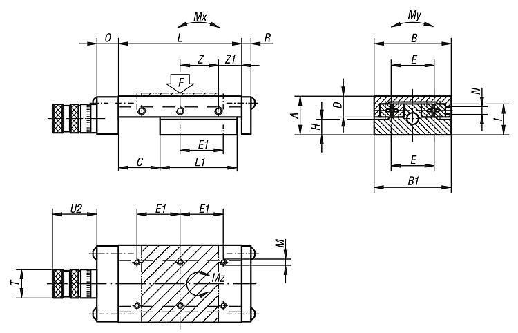 Tables de guidage de précision à palier à rouleaux... - Tables de guidage