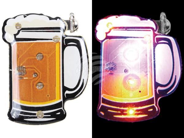 Blinki Blinker weiss gelb Motiv: Bier - null