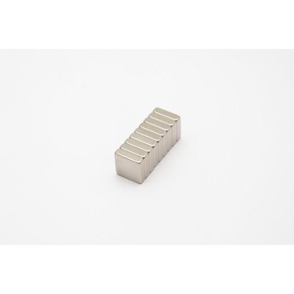 Block magnet, Neodymium, 10x10x3 mm, N45, Ni-Cu-Ni,... - null