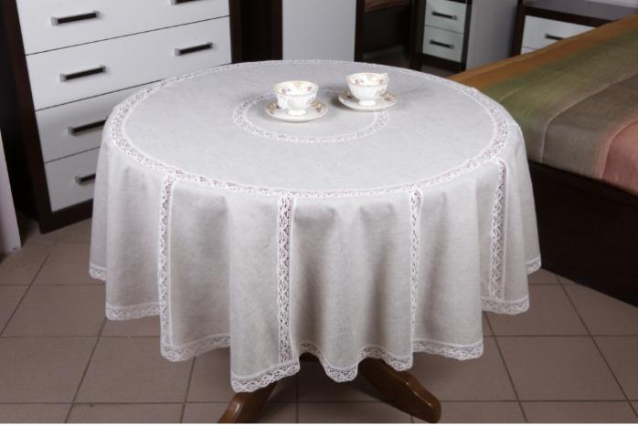 """Round tablecloth """"Snowy"""" -"""