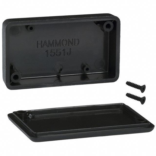 """BOX ABS BLACK 2.36""""L X 1.38""""W - Hammond Manufacturing 1551JBK"""