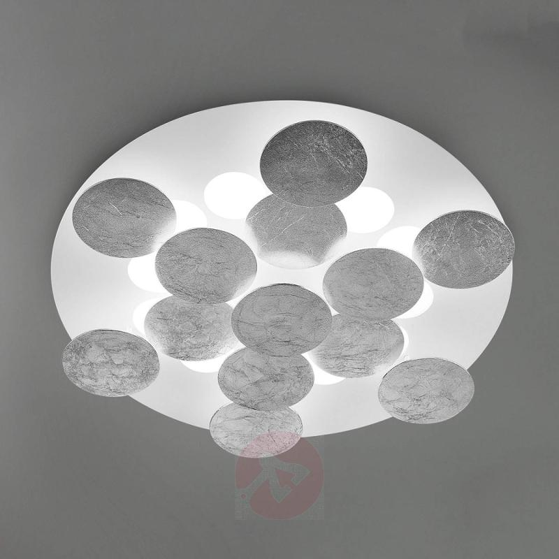 Covered with silver film - LED ceiling lamp Nuvola - design-hotel-lighting