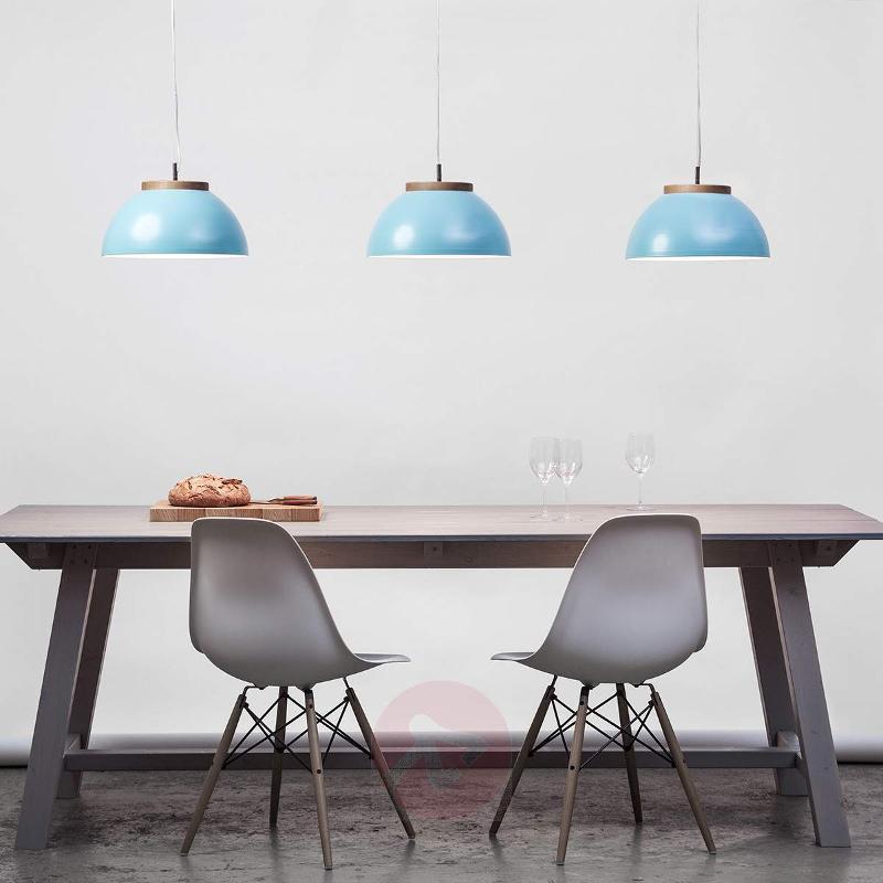 Industrial-looking pendant light Dub in turquoise - Pendant Lighting
