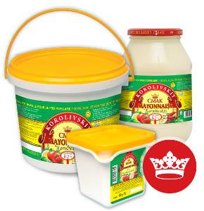 "Mayonnaise Sauce 67% ""Korolivskiy Gold"" - Vegeterian friendly (eggs free)"