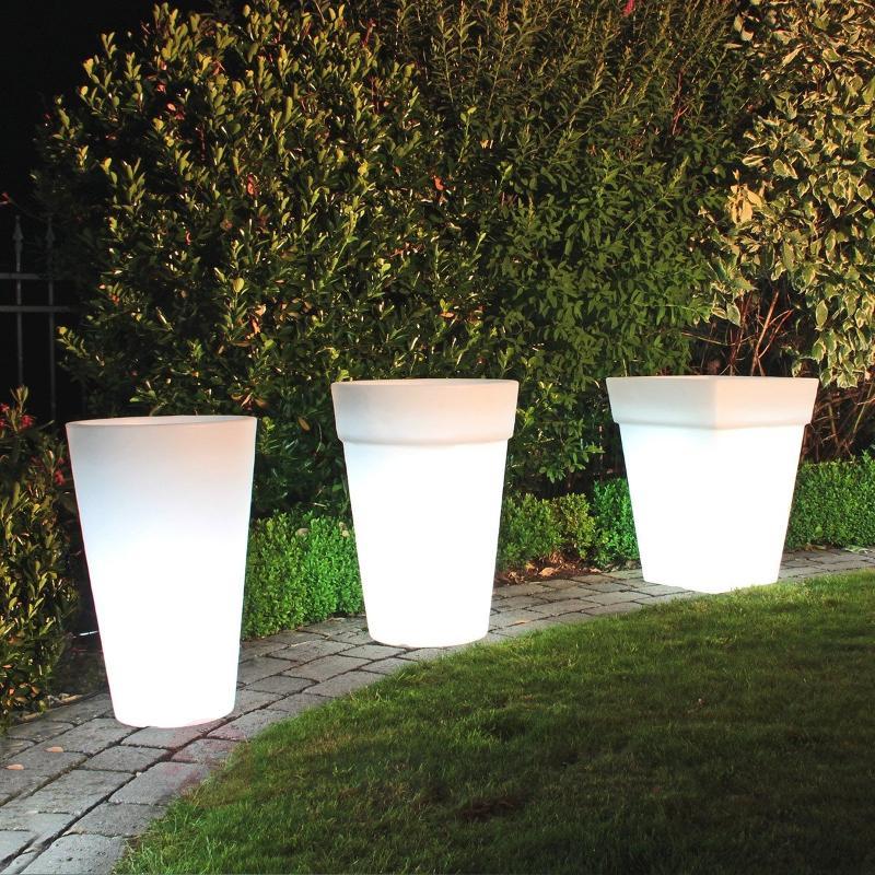 Jardinière ronde Shining Pot 4 tailles - Lampes décoratives d'extérieur