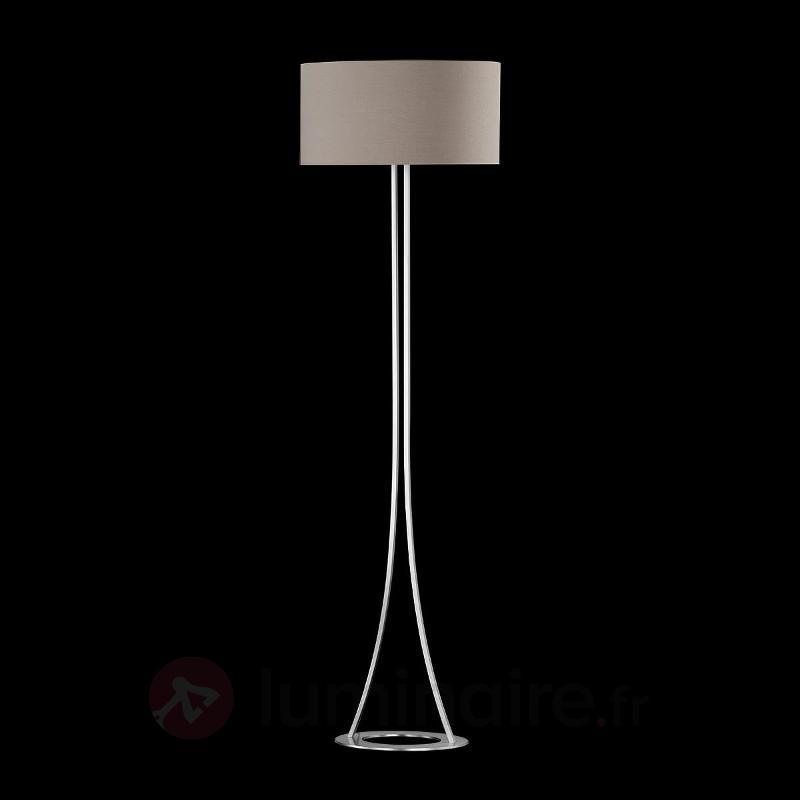 Élégant lampadaire Mira cappuccino - Lampadaires en tissu