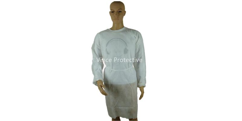 White Surgical Gown -