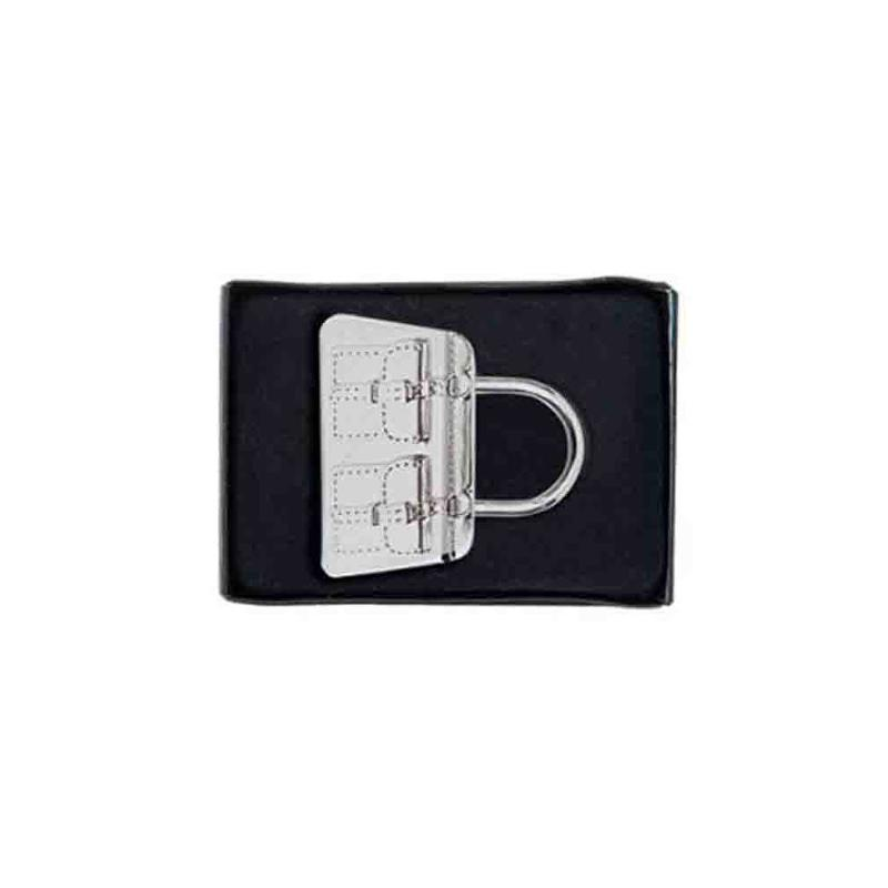 Porte-clef métal sac à main chrome - Porte-clés métal