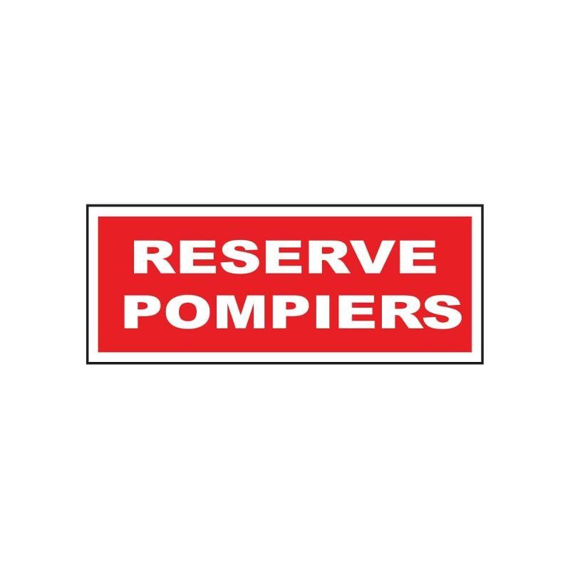 Panneau reserve pompiers 200 x 80 mm - Sécurité incendie