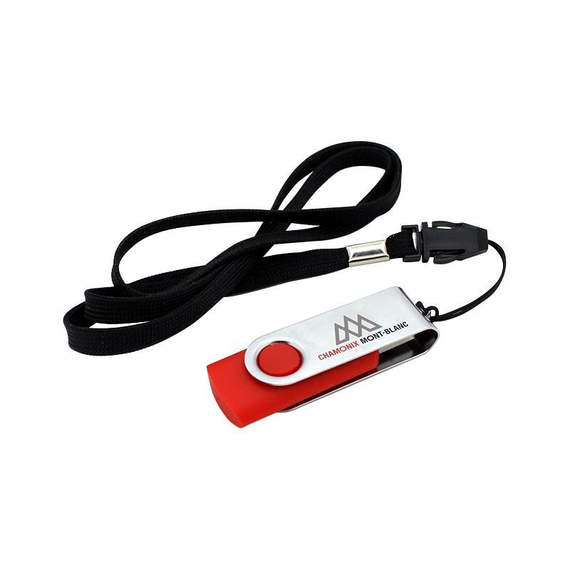 Cle USB Pivotante Couleur - Clé USB Publicitaire
