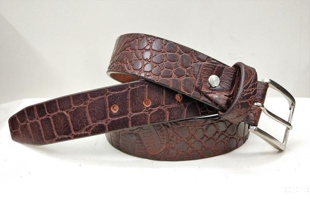 crocodile leather belt - crocodile leather belt for men
