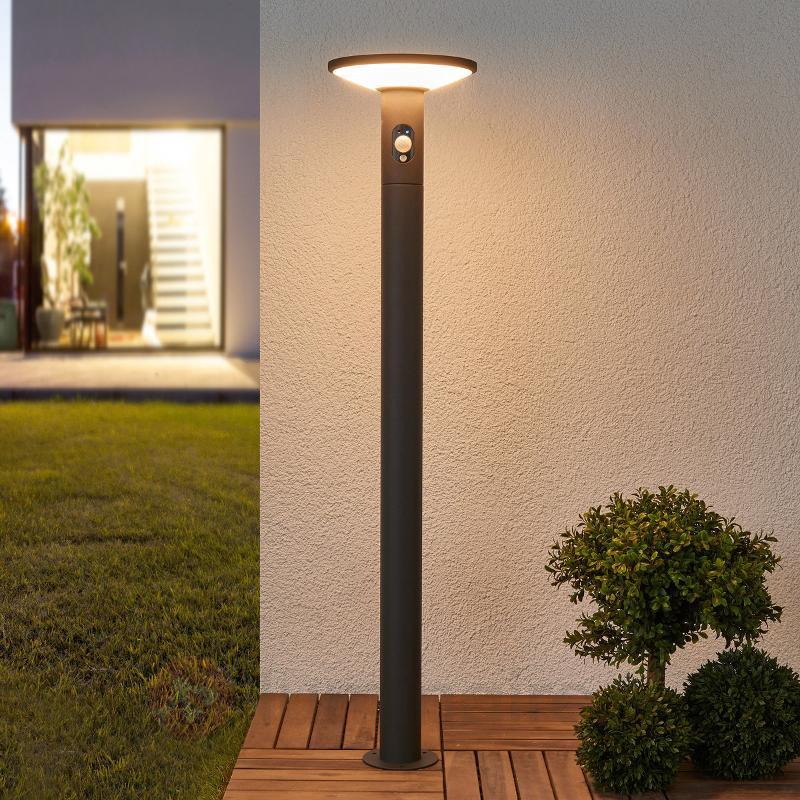 borne lumineuse led jersy panneau solaire 100 cm lampes solaires avec d tecteur luminaire fr. Black Bedroom Furniture Sets. Home Design Ideas