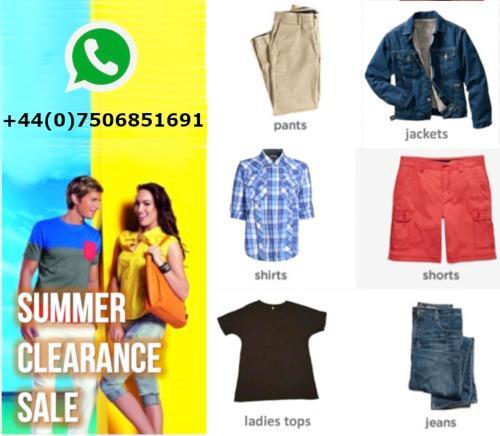 Stock di abbigliamento - Vendita di liquidazione - Abbigliamento uomo e donna all'ingrosso - estate