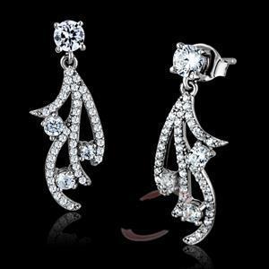 Fashion Earrings - 925 Sterling Silver AAA Grade CZ Earrings