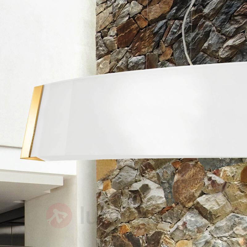 Suspension en verre LED noble Barca, détails dorés - Suspensions LED