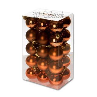 Weihnachtskugel 30 Stück 4cm Durchmesser Farbe: Schoko... - null