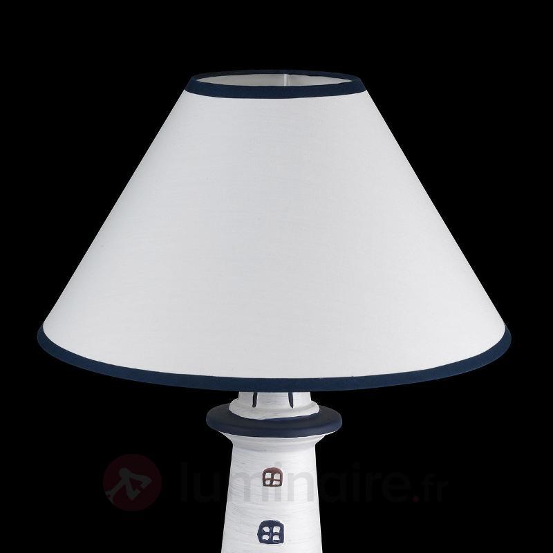 Lampe à poser maritime bleu marine Baltic II - Lampes à poser en tissu