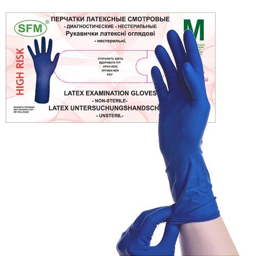 SFM HIGHRISK Latex Einweg Handschuhe puderfrei... - null