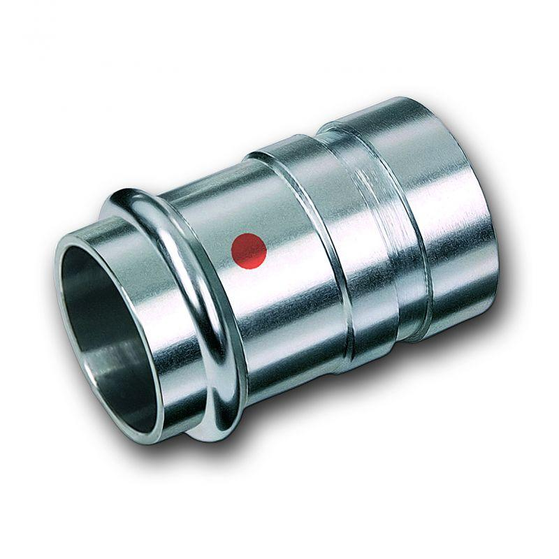 Adaptor with male plain end, Stainless steel - Stainless steel press fitting system NiroTherm®, AISI 304, EPDM