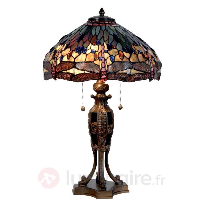 Grande lampe à poser Jungle style Tiffany - Lampes à poser style Tiffany