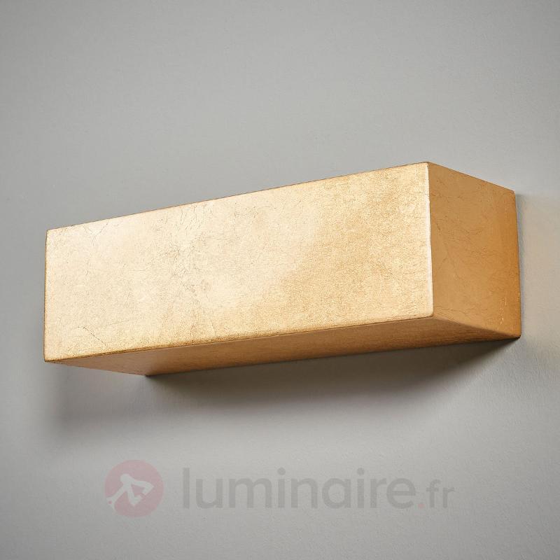 Larina - applique rectangulaire dorée - Appliques en laiton/dorées