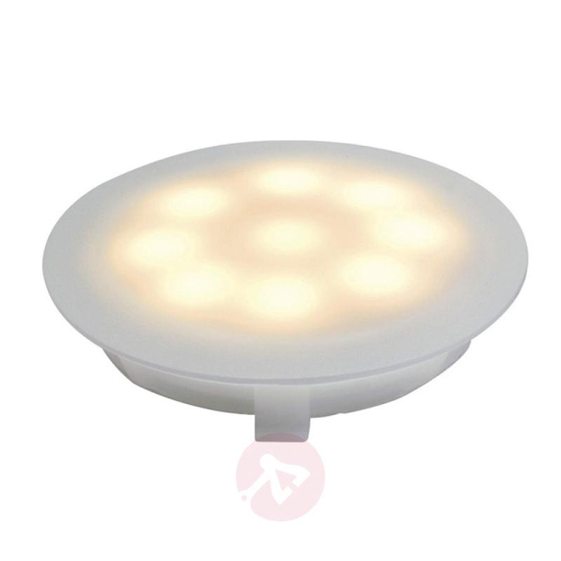 LED satin-finished recessed light, 1 W warm white - outdoor-led-lights