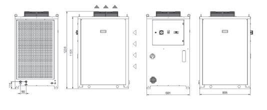 Tco56÷a0 Grandezza 2 Refrigeratori Industriali Per Olio - LINEA REFRIGERAZIONE