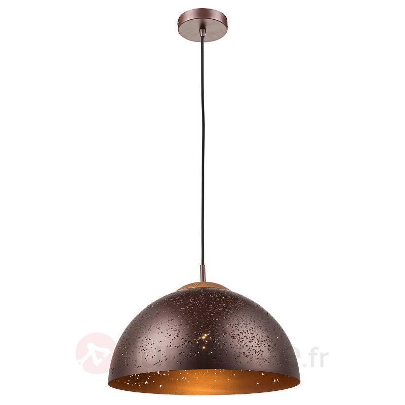 Suspension Enna bronze avec décor estampé - Toutes les suspensions
