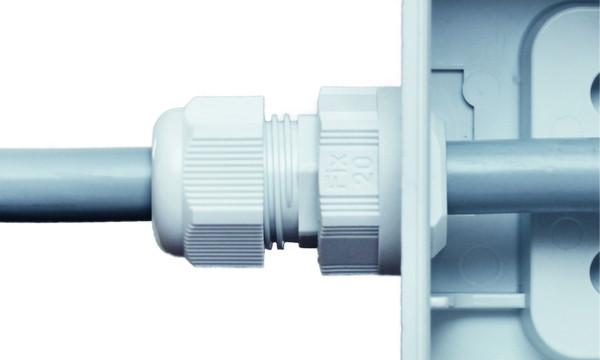 PERFECT Fix prensaestopas de poliamida - instalación rápida y fácil sin contratuerca