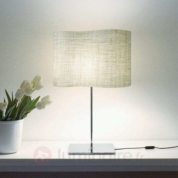 Lampe à poser Peggy à abat-jour en toile de jute - Lampes à poser designs