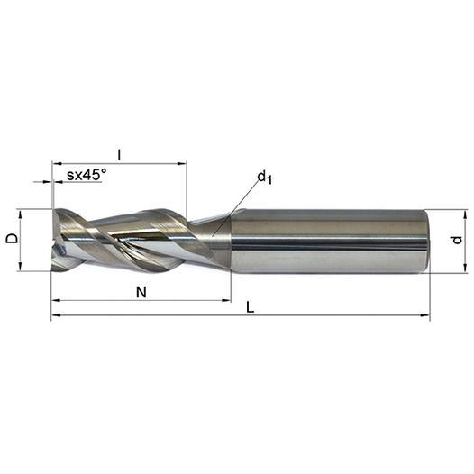 Vollhartmetallfräser VHM 209-03 MK10 - null