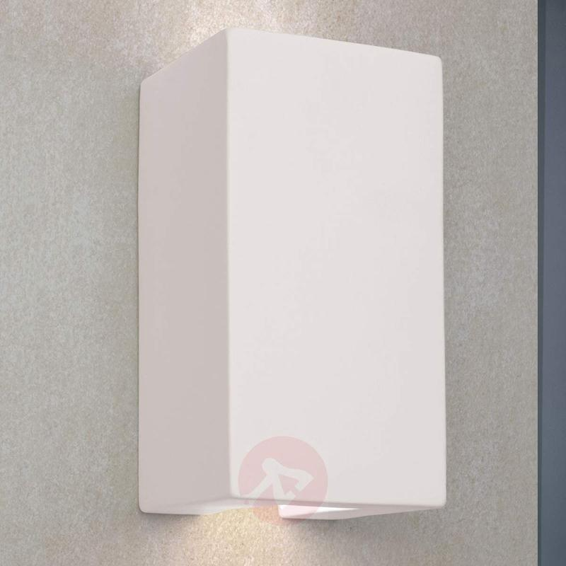 Learta Wall Light Made of Plaster Indirect Light - Wall Lights